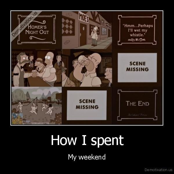 How I spent