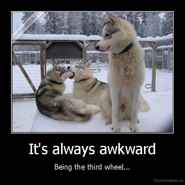 It's always awkward