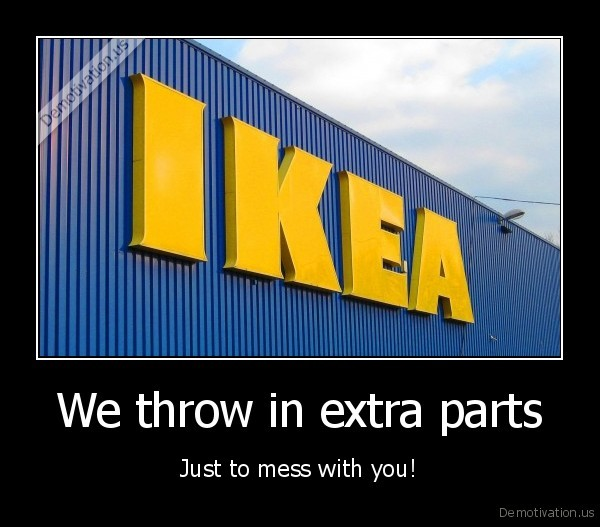 We throw in extra parts