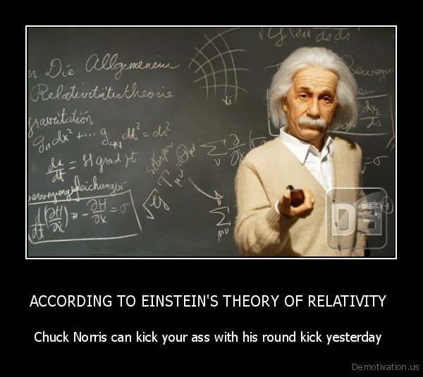 ACCORDING TO EINSTEIN'S THEORY OF RELATIVITY