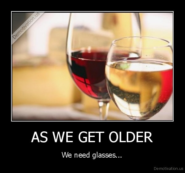 AS WE GET OLDER