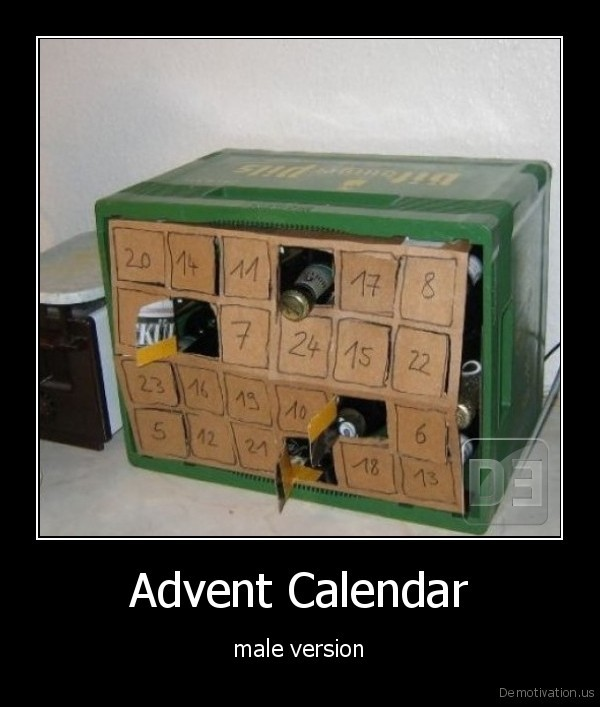 advent, calendar,beer,male
