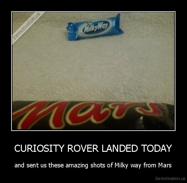CURIOSITY ROVER LANDED TODAY