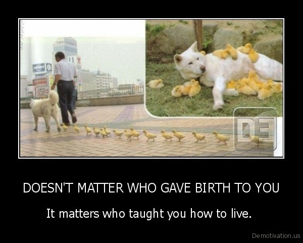 DOESN'T MATTER WHO GAVE BIRTH TO YOU