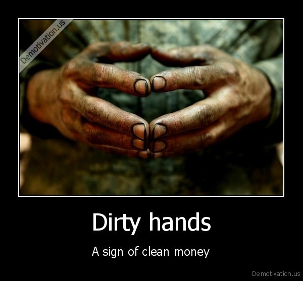 dirty, money,worker
