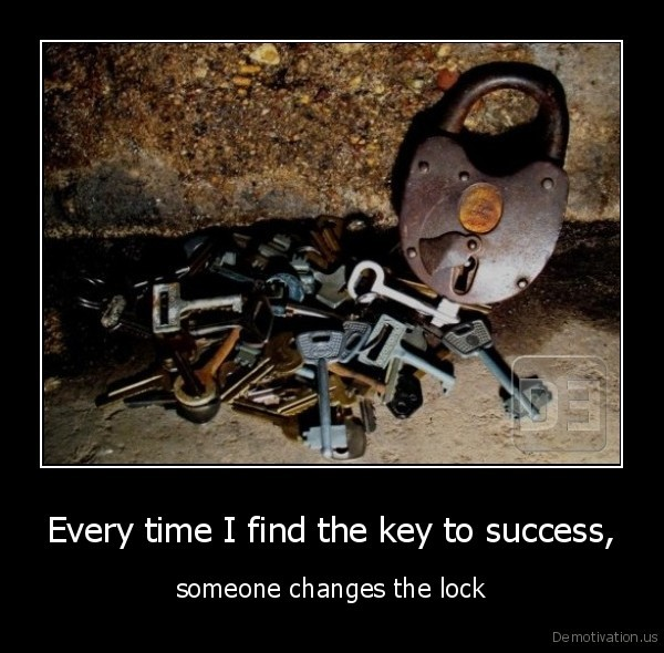 success,key,lock