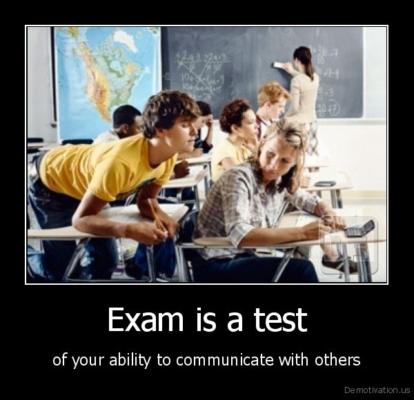 exam,test,communicate,cheat