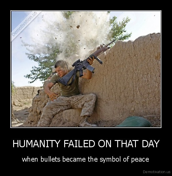Humanity Failed On That Day Demotivation