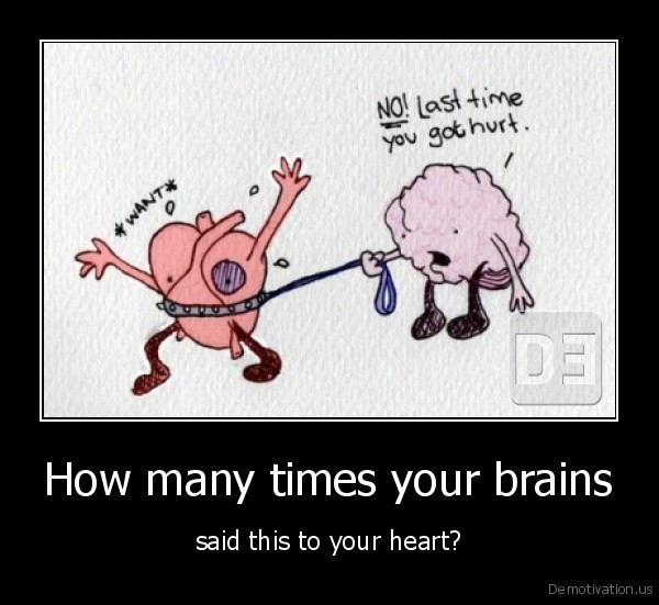 How many times your brains - said this to your heart?