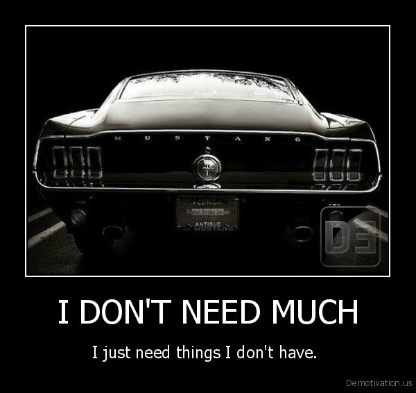 I DON'T NEED MUCH