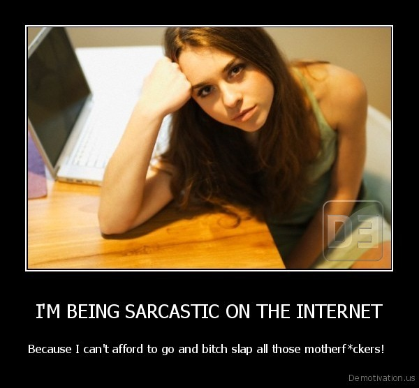 I'M BEING SARCASTIC ON THE INTERNET