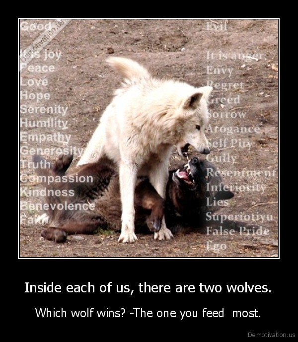 Inside each of us, there are two wolves.