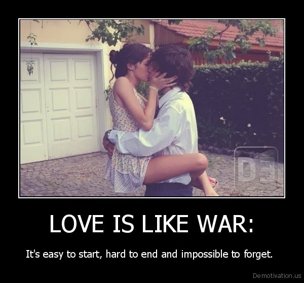 LOVE IS LIKE WAR: