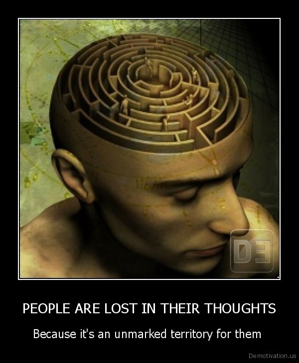PEOPLE ARE LOST IN THEIR THOUGHTS
