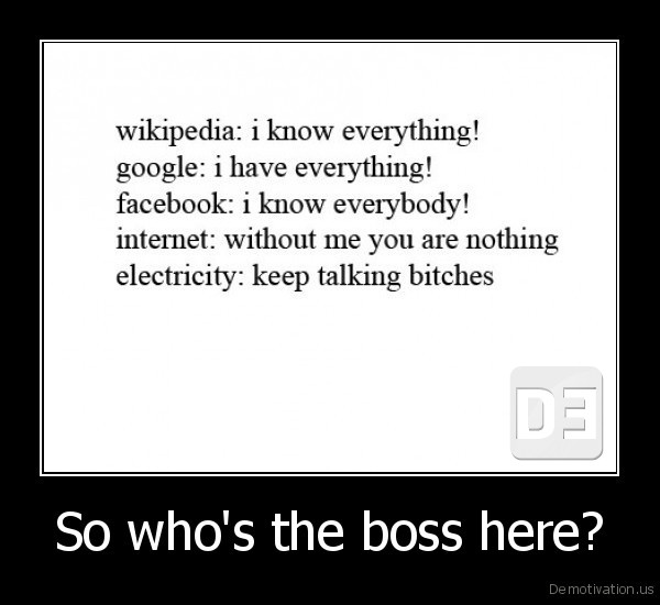 So who's the boss here? -