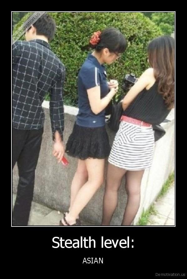 Asian spy upskirt