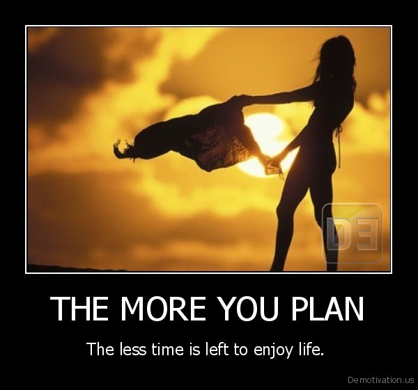THE MORE YOU PLAN