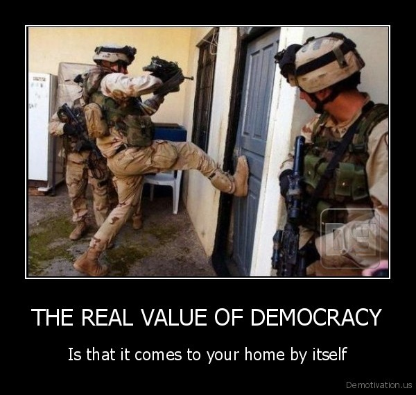 THE REAL VALUE OF DEMOCRACY