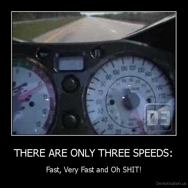 THERE ARE ONLY THREE SPEEDS: