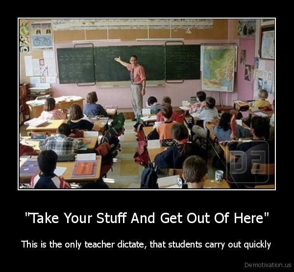 teacher,get, out,out, of, class,students,lesson