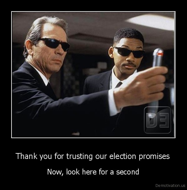 Thank you for trusting our election promises