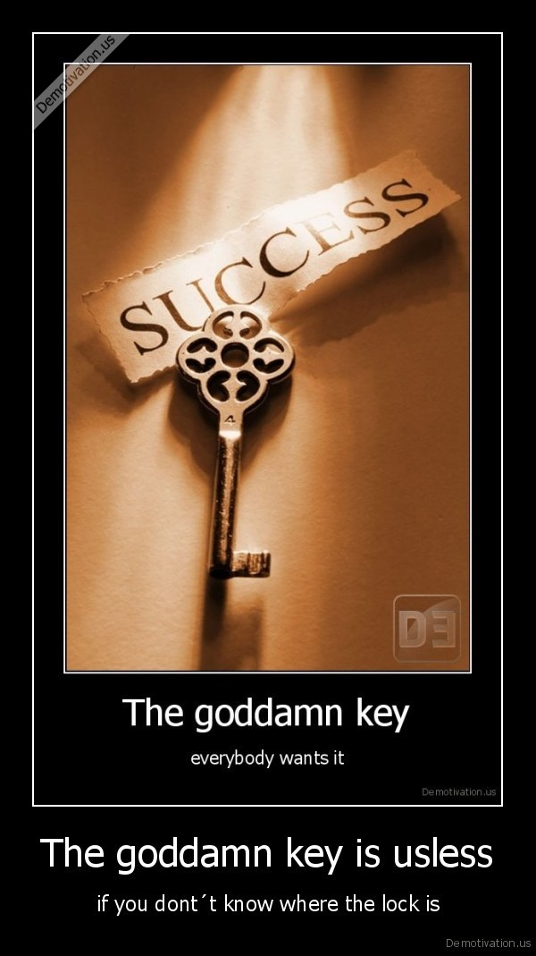 The goddamn key is usless