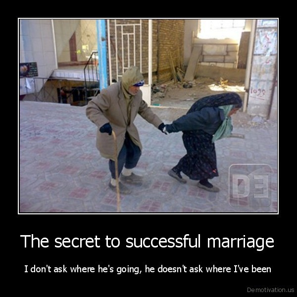 The secret to successful marriage
