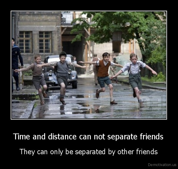 Friends separated