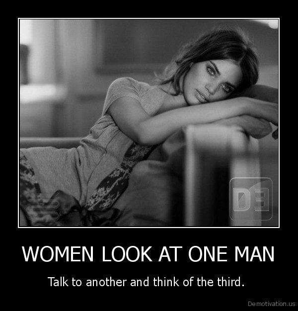 WOMEN LOOK AT ONE MAN