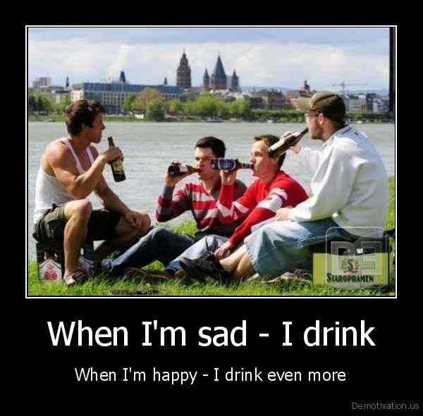drink,sad,happy,party