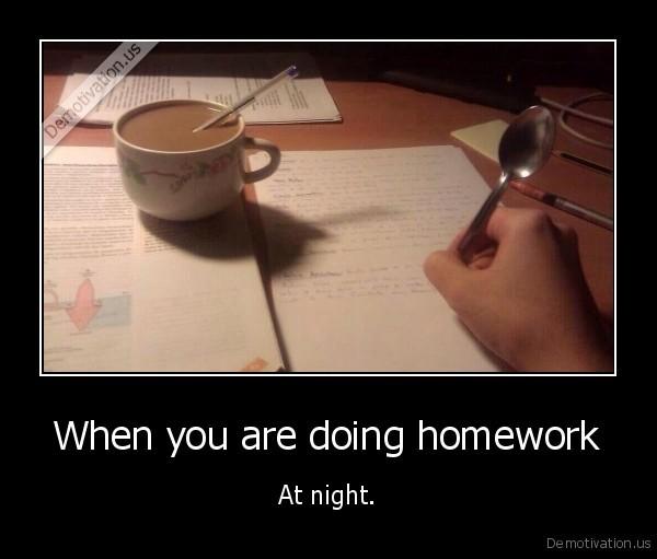 I Like Doing Homework At Night - image 2