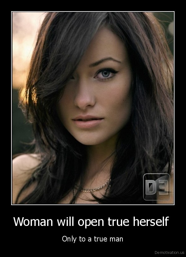 Woman will open true herself