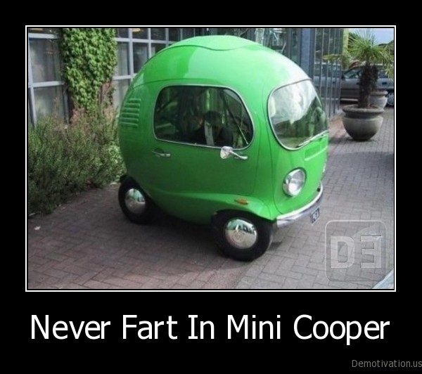 small, car,fart, in, car,mini, cooper
