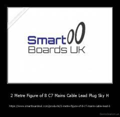 2 Metre Figure of 8 C7 Mains Cable Lead Plug Sky H - https://www.smartboardsuk.com/products/2-metre-figure-of-8-c7-mains-cable-lead-3