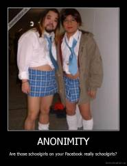 ANONIMITY - Are those schoolgirls on your Facebook really schoolgirls?