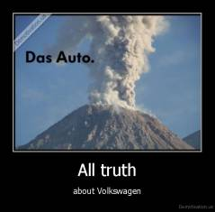 All truth - about Volkswagen