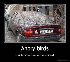 Angry birds - much more fun on the internet