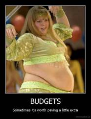 BUDGETS - Sometimes it's worth paying a little extra