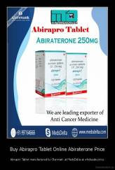 Buy Abirapro Tablet Online Abiraterone Price - Abirapro Tablet manufactured by Glenmark at MedsDelta at wholesale price