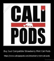 Buy Juul Compatible Strawberry Mint Cali Pods - https://www.calivapepods.com/strawberry-mint-cali-pods