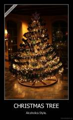 CHRISTMAS TREE - Alcoholics Style.