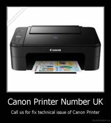 Canon Printer Number UK - Call us for fix technical issue of Canon Printer
