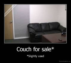 Couch for sale* - *Slightly used