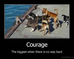 Courage - The biggest when there is no way back