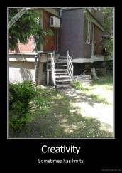 Creativity - Sometimes has limits