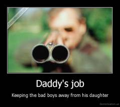 Daddy's job - Keeping the bad boys away from his daughter