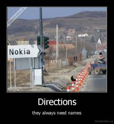 Directions - they always need names