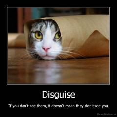Disguise - If you don't see them, it doesn't mean they don't see you
