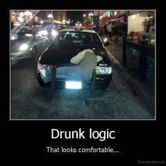 Drunk logic - That looks comfortable...