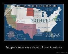 European know more about US than Americans -